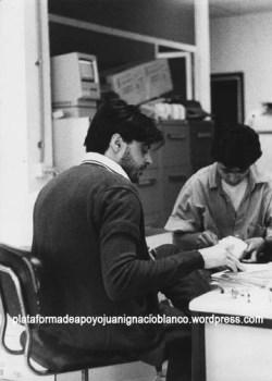 """En la nueva redacción de """"El Caso"""" en Alamería, 1988"""