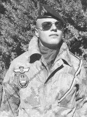 Juan Ignacio Blanco durante su servicio en la brigada paracaidista. (BRIPAC)