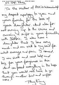carta arrepentimiento Rocio